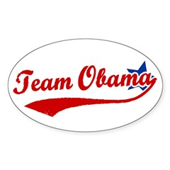 Team Obama Oval Decal
