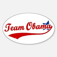 Team Obama Oval Decal
