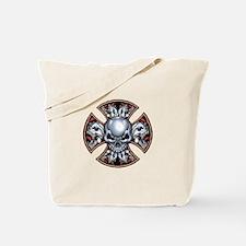Screaming Iron Skull Tote Bag