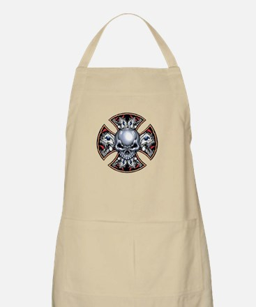Screaming Iron Skull BBQ Apron