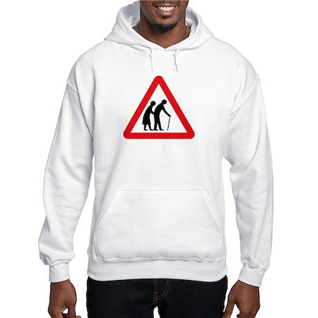 Elderly People, UK Hooded Sweatshirt