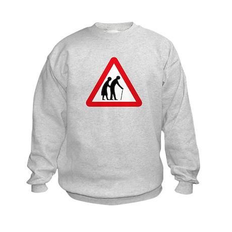 Elderly People, UK Kids Sweatshirt