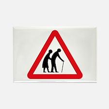 Elderly People, UK Rectangle Magnet
