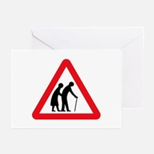 Elderly People, UK Greeting Cards (Pk of 10)