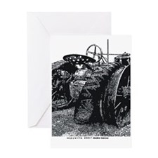 Old Tractors Greeting Card