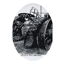Old Tractors Oval Ornament