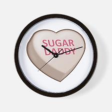 Sugar Daddy Candy Heart Wall Clock