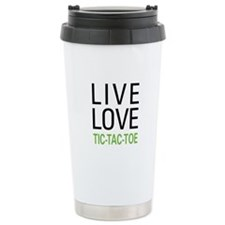 Live Love Tic-Tac-Toe Travel Mug