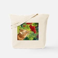 Hibiscus Cat Tote Bag