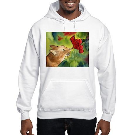 Hibiscus Cat Hooded Sweatshirt