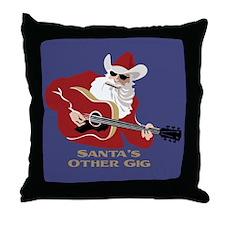 Santa's Other Gig Throw Pillow