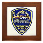 Georgetown Police Framed Tile