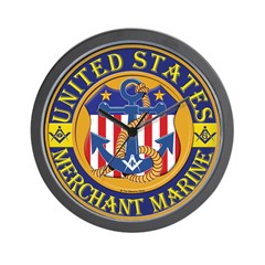 Merchant Marine Mason Wall Clock