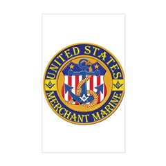 Merchant Marine Mason Rectangle Decal
