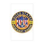 Merchant Marine Mason Rectangle Sticker