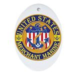 Merchant Marine Mason Oval Ornament