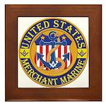 Merchant Marine Mason Framed Tile