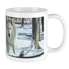 Two Artic Wolves Mug
