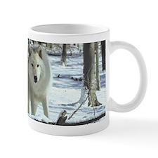 Two Artic Wolves Mug