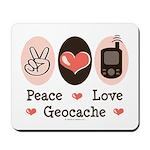 Peace Love Geocache Geocaching Mousepad