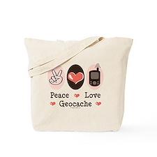 Peace Love Geocache Geocaching Tote Bag