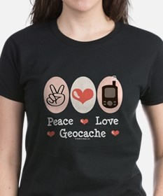 Peace Love Geocache Tee