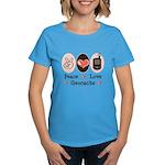 Peace Love Geocache Women's Dark T-Shirt
