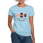 Peace Love Geocache Women's Light T-Shirt