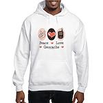 Peace Love Geocache Geocaching Hooded Sweatshirt