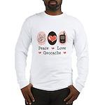 Peace Love Geocache Geocaching Long Sleeve T-Shirt