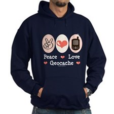 Peace Love Geocache Geocaching Hoodie
