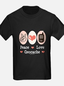 Peace Love Geocache Geocaching T