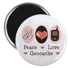 "Peace Love Geocache 2.25"" Magnet (10 pack)"
