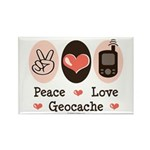 Peace Love Geocache Rectangle Magnet (10 pack)