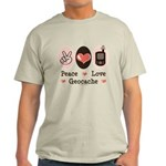 Peace Love Geocache Geocaching Light T-Shirt