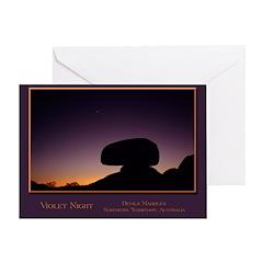 Violet Night Greeting Card