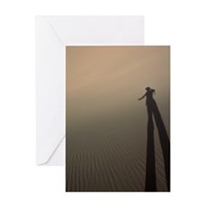 Desert Shadowplay Greeting Card