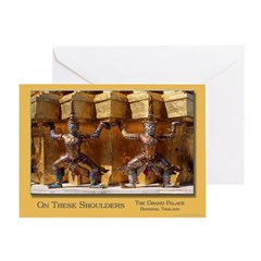 Wat Pho Figures Greeting Card