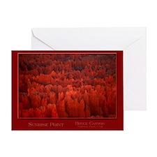 Bryce Canyon Flames Greeting Card