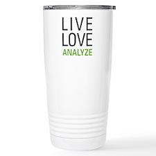 Live Love Analzye Travel Coffee Mug