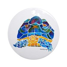 African Spur Tortoise Ornament (Round)