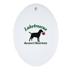 Labs4rescue Oval Ornament