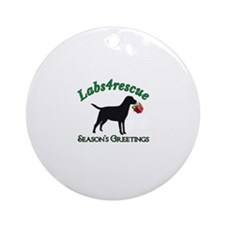 Labs4rescue Ornament (Round)