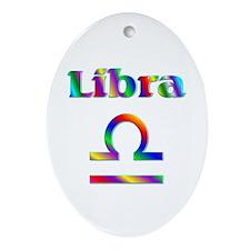 Libra the Scales Oval Ornament