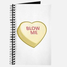 Blow Me Candy Heart Journal