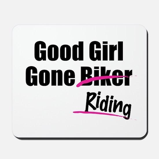 Good Girl Gone Riding Mousepad