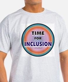 Time for Inclusion Ash Grey T-Shirt