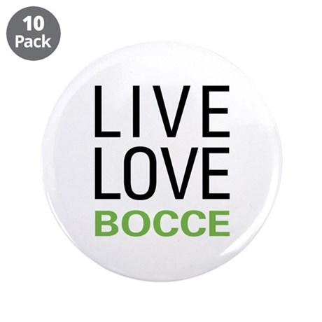 """Live Love Bocce 3.5"""" Button (10 pack)"""