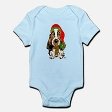 Christmas Basset Hound Infant Bodysuit
