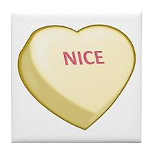 Nice Candy Heart Tile Coaster